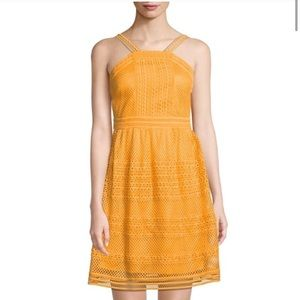 Tahari Yellow Dress Size Small NWT
